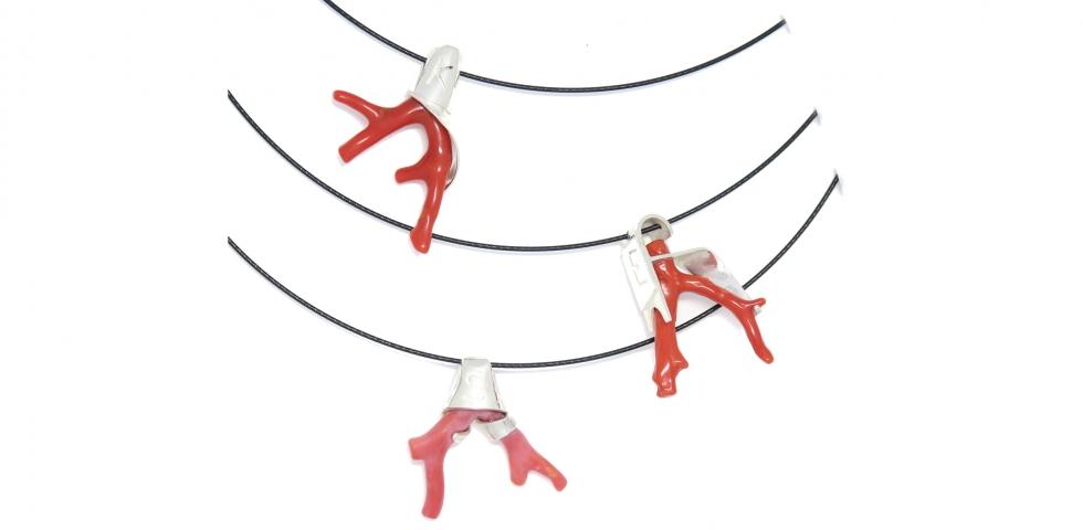 Mediterranean Coral pendants